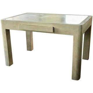 Barbara Sinatra Estate Modern Travertine and Wood Custom Made Game Table For Sale