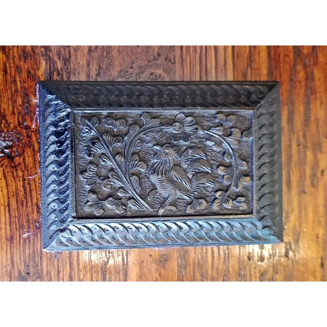 Late 19th Century Vintage Anglo Indian Ebony Calling Card Case For Sale In Dallas - Image 6 of 9