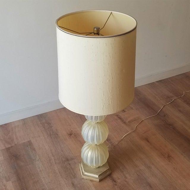 Mid 20th Century Italian Murano Aventurina Glass Table Lamp For Sale - Image 12 of 13