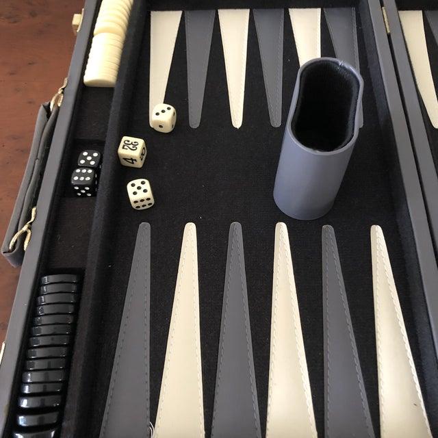 Italian Leather Backgammon Set For Sale - Image 4 of 8