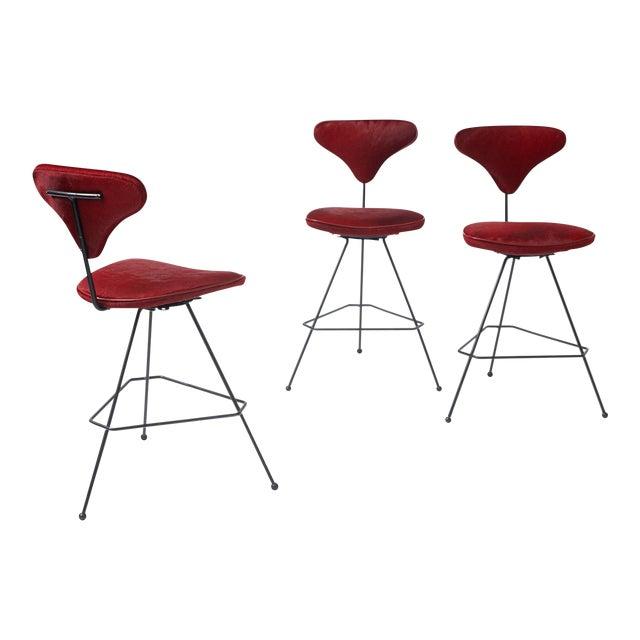 Arthur Umanoff Bar Stools - set of 3 For Sale
