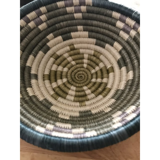 African Multicolored Coil Basket - Image 3 of 5