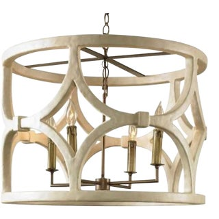 Mr Brown Wolfgang Chandelier in White Gesso For Sale
