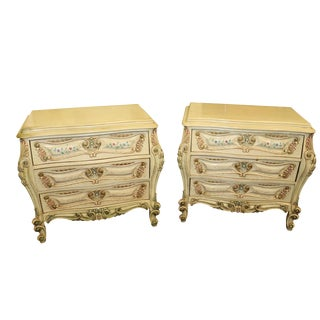 Italian Provincial Bombay Commodes - a Pair For Sale