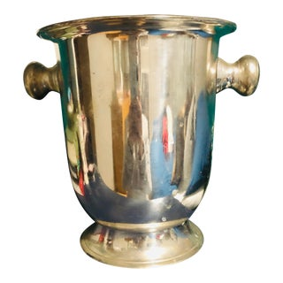 1900s Silver Plated Champagne Bucket For Sale