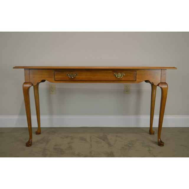 Ethan Allen Circa 1776 Collection Maple Queen Anne Sofa Table Console For Sale - Image 10 of 13