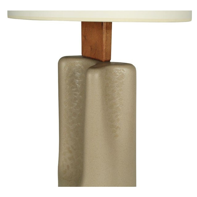 "Marshall Studios Gordon Martz Broad ""Pinched"" Ceramic Table Lamp For Sale - Image 4 of 7"