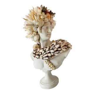 Shell-Encrusted Apollo Bust For Sale