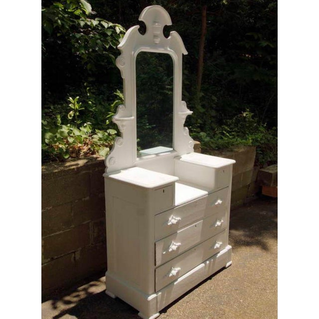 1870's Cottage Chest of Drawers With Mirror For Sale In New York - Image 6 of 6