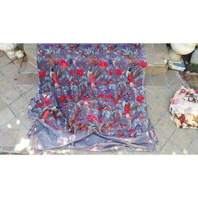 Vibrant Chinoiserie Velvet - Image 2 of 4