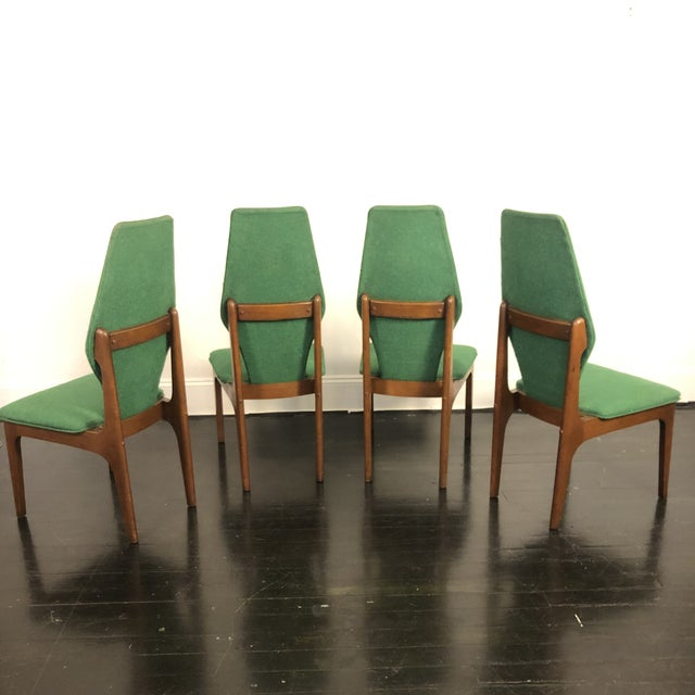 1960s Sculptural High Back Dining Chairs- Set of 4 For Sale - Image 5 of 10