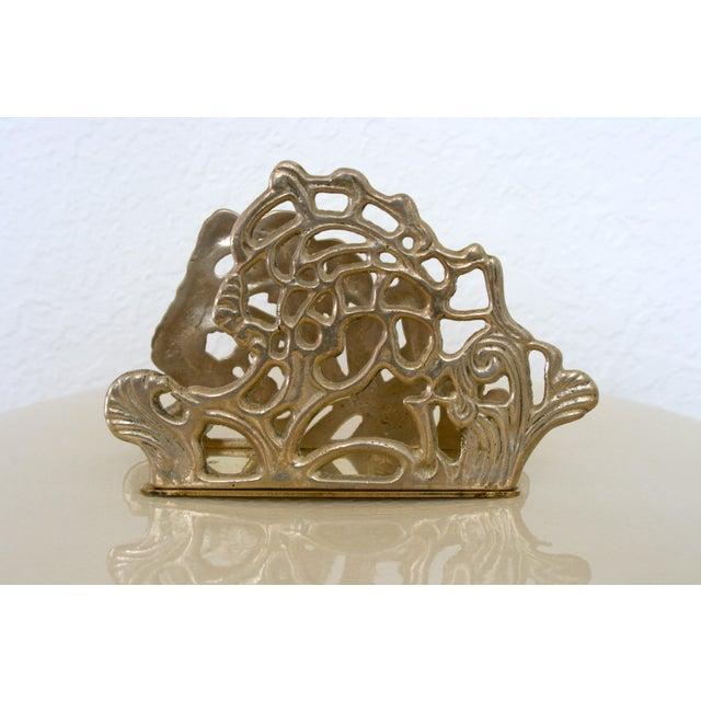 Vintage Brass Teleflora Letter / Napkin Holder For Sale In Seattle - Image 6 of 9