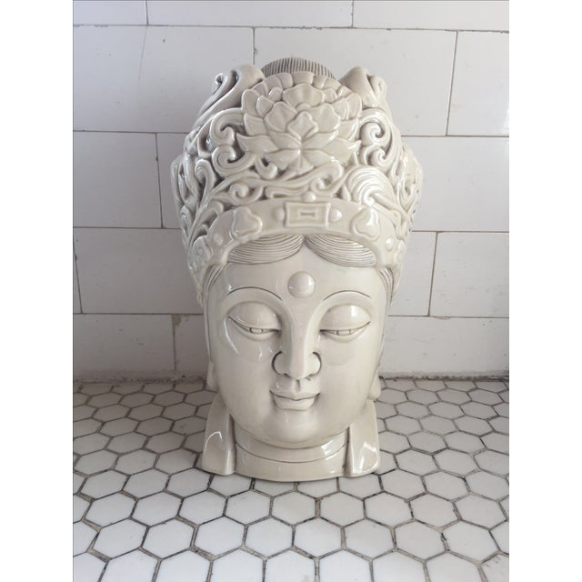 Chinese Blanc De Chine Quan Yin Goddess Head - Image 2 of 11