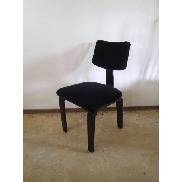 Vintage Black on Black Mohair Thonet Chair - Image 8 of 8