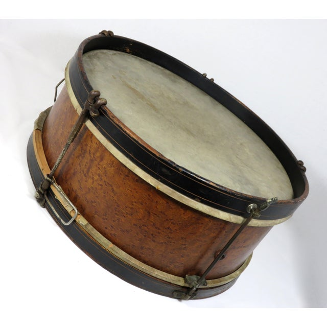 Early 20th Century Antique Parade Marching Snare Drum For Sale - Image 4 of 13