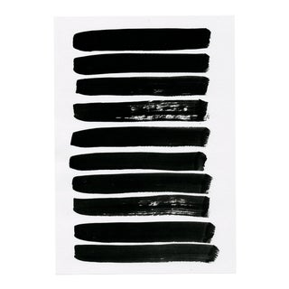 Modern Contemporary Minimal Black and White Lines Drawing For Sale