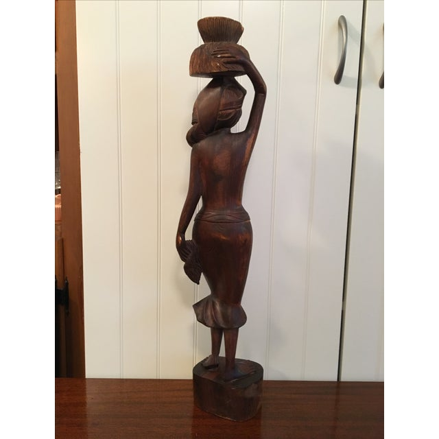 Vintage Wooden Beautiful Woman Statue - Image 8 of 9