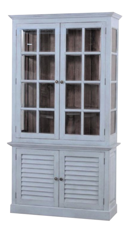 Shabby Chic Light Blue Display Cabinet