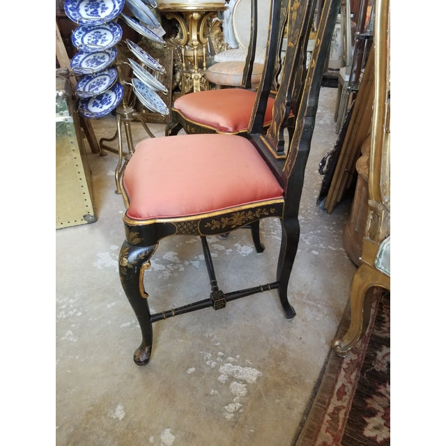 Pair of Chinoiserie Chairs For Sale - Image 11 of 12