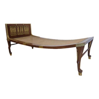 Antique -London Origin -Egyptian Revival Daybed/Chaise Longue Sale For Sale