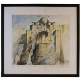 "Rare 2002 Set Design Sketch From ""Dinotopia"" For Sale"