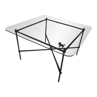 1970s Brutalist Metal Dining Table For Sale
