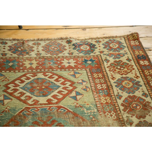 "Antique Kazak Rug - 4'2"" X 6'3"" - Image 7 of 9"