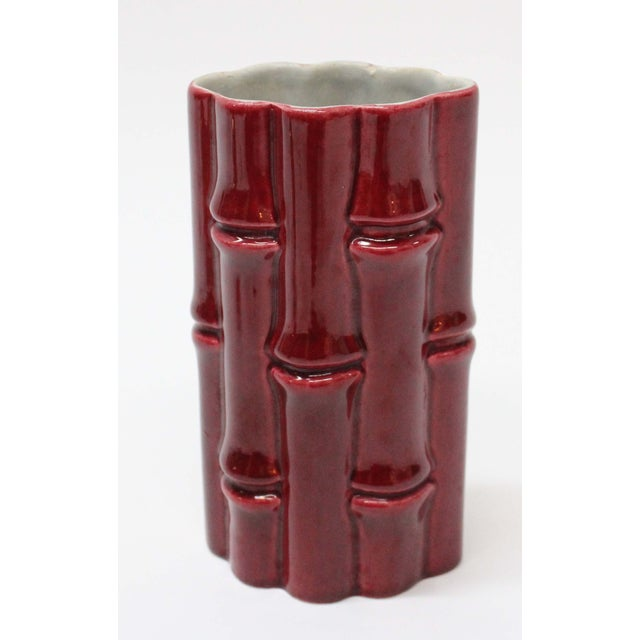 Mid-Century Modern Mid-Century Red Wing Pottery Bamboo Vase For Sale - Image 3 of 6