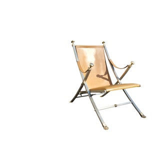 Otto Parzinger, Campaign Chair, Manufactured by Maison Jansen, Circa 1960 For Sale