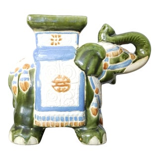 Elephant Statue Plant Stand For Sale