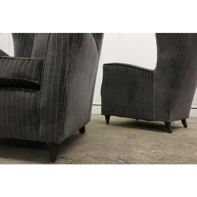 Paolo Buffa Pair of Armchairs by Paolo Buffa, Italy, 1950s For Sale - Image 4 of 11