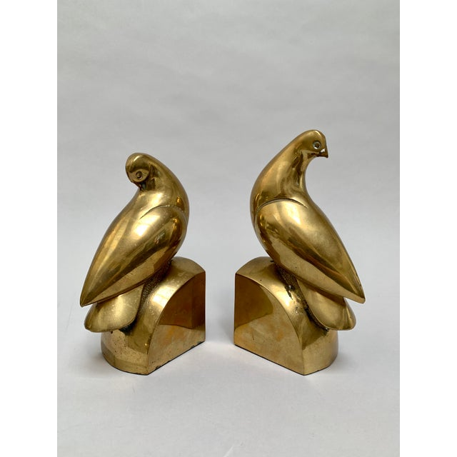 Brass Brass Dove Bookends – a Pair For Sale - Image 8 of 13