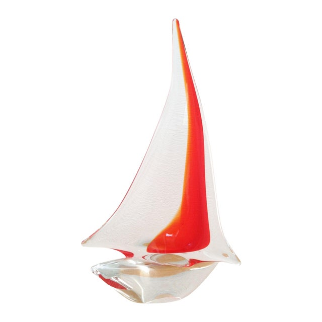 Vintage Murano Glass Sailboat - Image 1 of 5