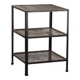 Three-Tier Expanded Metal Utility Shelf Unit, Custom Made to Order For Sale