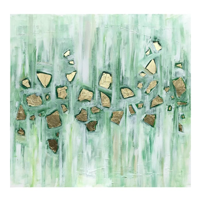 'Viridescence' Original Abstract Painting by Linnea Heide For Sale