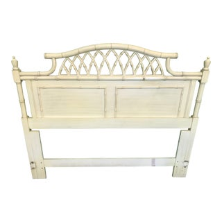 Vintage Thomasville Faux Bamboo Allegro Queen Headboard For Sale