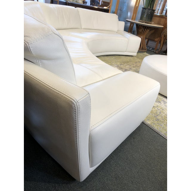 Solstice Curved Sectional + Ottoman From Roche Bobois For Sale - Image 10 of 12