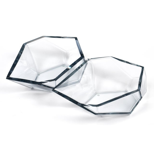 Italian Contemporary A. Donna Geometric Murano Glass Bowls For Sale - Image 3 of 12