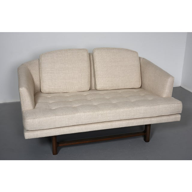 1950s Edward Wormley for Dunbar Settee With Mahogany Base, Circa 1956 For Sale - Image 5 of 10