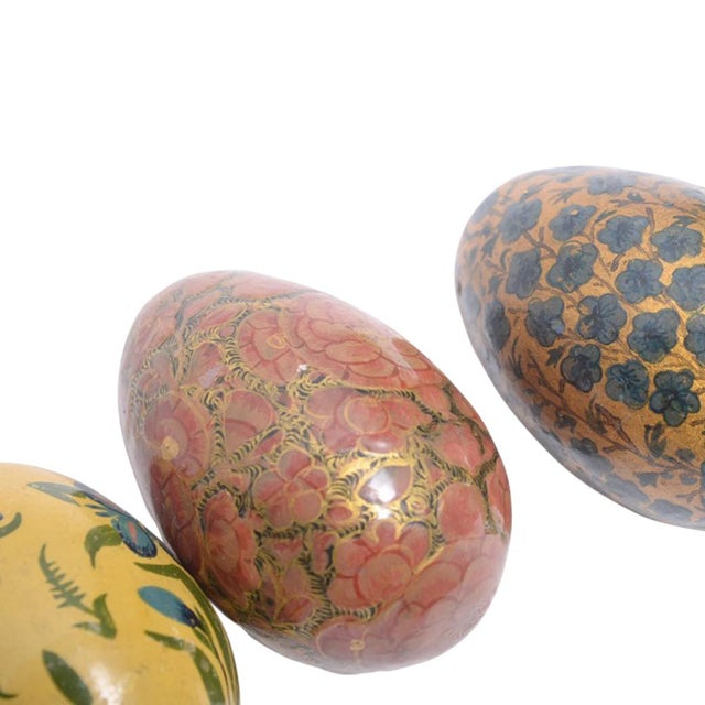 Paper Mache Kashmiri Eggs - Set of 4 - Image 3 of 3