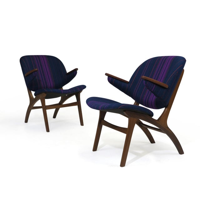 Carl Edward Matthes Danish Teak Lounge Chairs - a Pair For Sale - Image 4 of 10