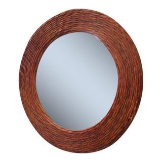 Islandy Round Rattan Mirror