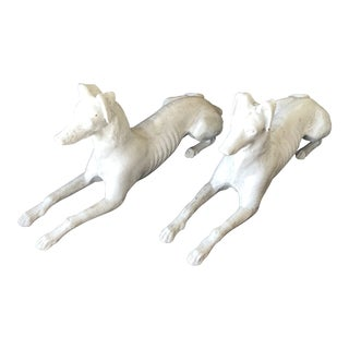 Iron Whippet Statues - a Pair For Sale