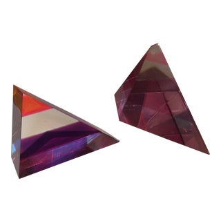 Ashley 85 Signed Multicolor Acrylic Sculptures - a Pair For Sale