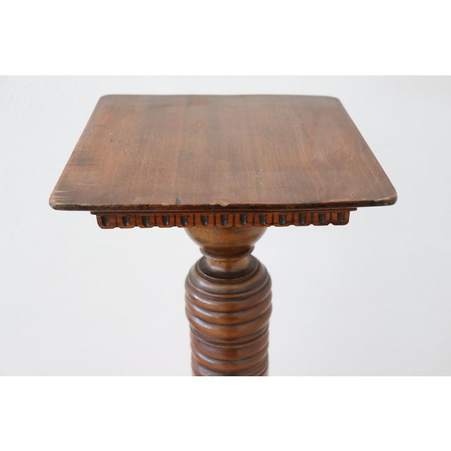 19th Century Italian Antique Column in Turned Walnut For Sale - Image 4 of 8