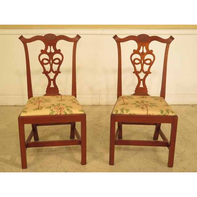 Eldred Wheeler Cherry Chippendale Dining Room Chairs - Set ...