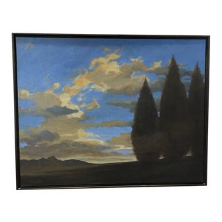 Framed Landscape Painting by Myott WIlliams For Sale