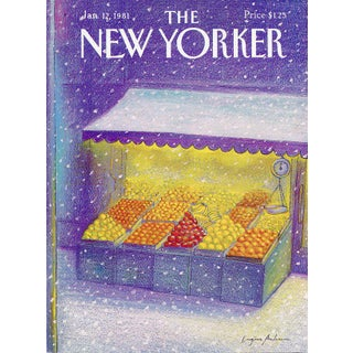 Vintage 1981 New Yorker Cover, January 12 (Eugene Mihaesco), City Life For Sale