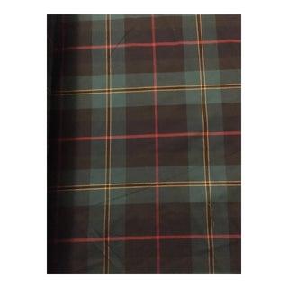 Scottish Imported Cotton Plaid Fabric - 20 Yards