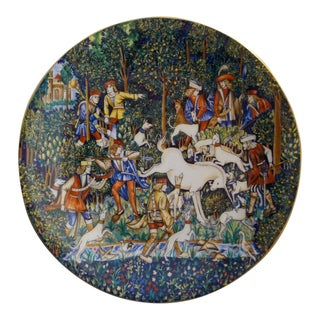 Limoges Hunt for the Unicorn Plate by Robert Haviland For Sale